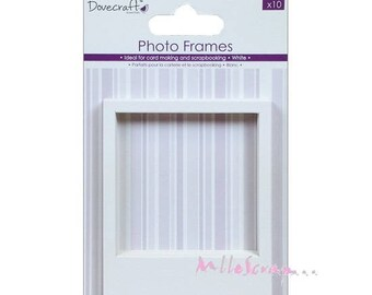 "Set of 10 photo frames wall decal polaroid ""Dovecraft"" decor scrapbooking (ref.110). *."