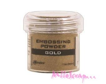 Embossing powder gold Ranger scrapbooking card making *.