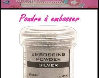 Embossing powder silver Ranger scrapbooking card making *.