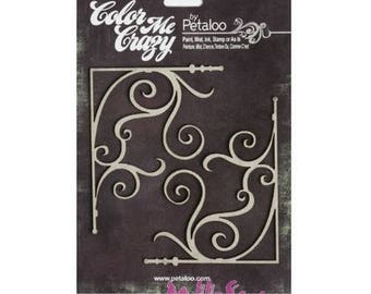 "Chipboard ""petaloo"" cardmaking scrapbooking embellishment corners *."