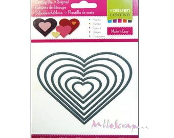 Die cut hearts, die cut hearts, v Creative books, 6 pieces