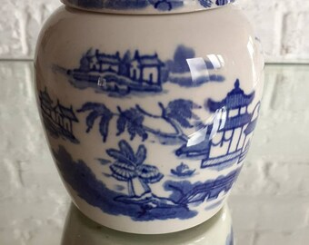 RARE 19th Century Chinese Blue White Covered Ginger Jar Red Clay Seal 649.00 VALUE Price Reduced!