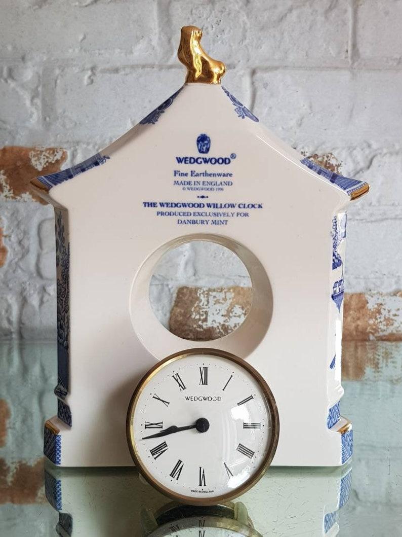 L'horloge de wedgwood de saule- Danbury Mint- Rare