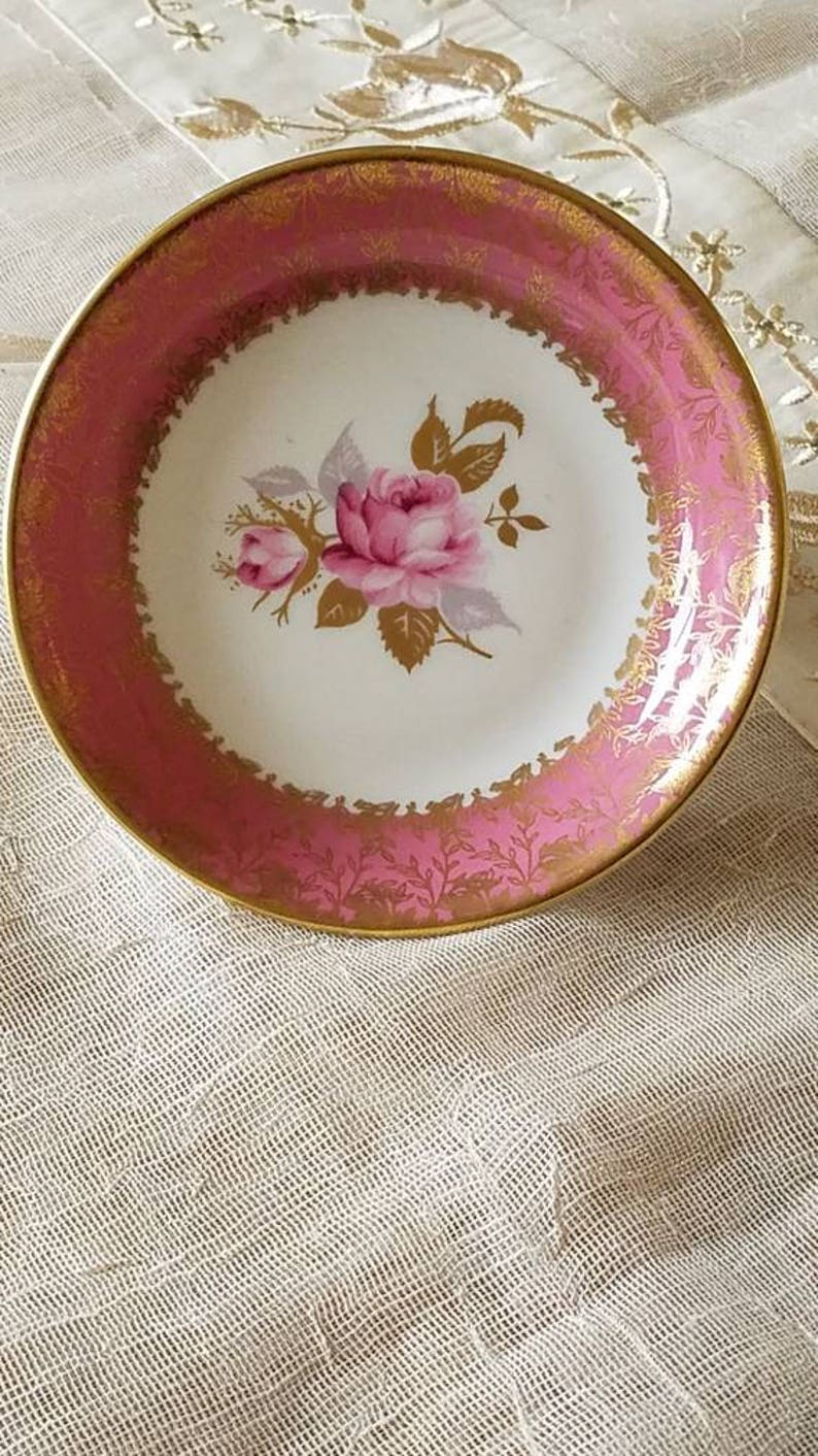 Charming Aynsley Little Plate or Trinket Dish-Made in England!