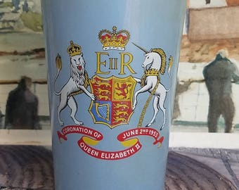 Vintage Coronation of Queen Elizabeth ll 1953 Glass Cup
