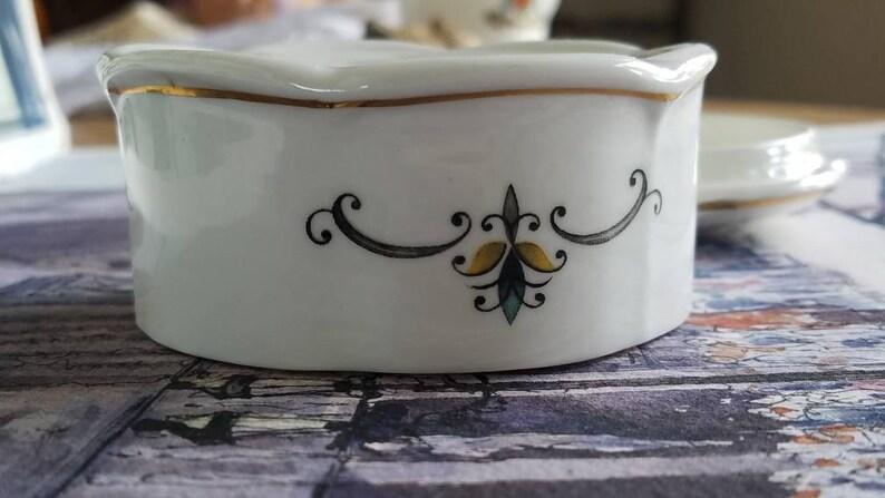Fine Bone China Trinket Box-Dish by Lysander Made in England!
