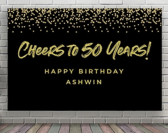 50th birthday banner etsy