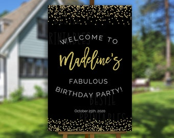 birthday yard sign etsy