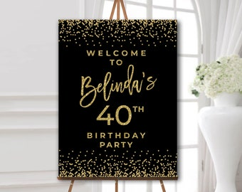 Black And Gold Party Decoration Ideas  from i.etsystatic.com