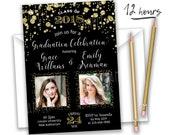 items similar to twin graduation announcement twin graduation