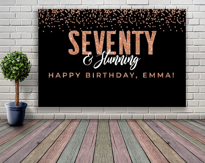 PRINTABLE 70th Birthday Decoration For Women 60th