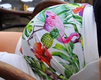 Flemish Maternity Headband Rose and Tropical Leaves - Pregnancy Headband - Belt - Maternity Accessory - Pregnant Christmas