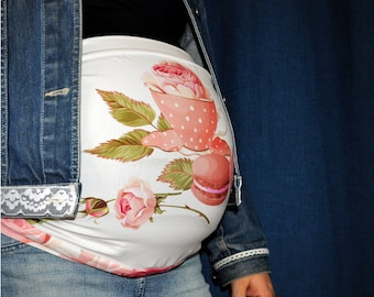 Macarons and Roses Maternity Band - Pregnancy Band - Belt - Maternity Accessory - Pregnant Clothing