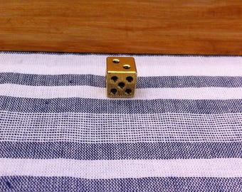 spacer bead cube of gold, 9 x 9 mm