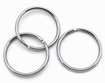 10 25 mm accessories supports creative arts matte silver double rings
