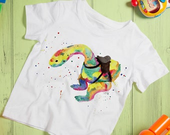Kids Orgo Top, Rainbow Dino T-shirt, Orgo Runners Tshirt, Orgo Lover Gift, Dinosaur Gift Ideas, Child Orgo Shirt, Gift for Book Lovers