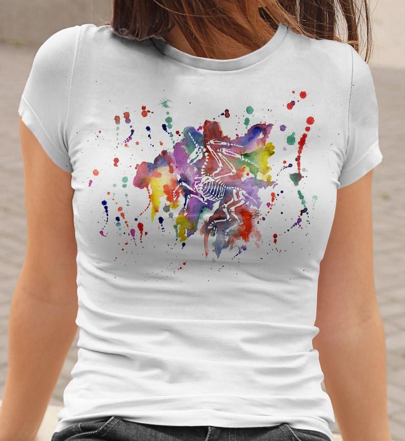 3a07fcab4 Dead Unicorn T-Shirt Alicorn Skeleton Shirt Rainbow Pegasus | Etsy