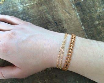 Bracelet 3 chains mi-feuilles/mi chains!