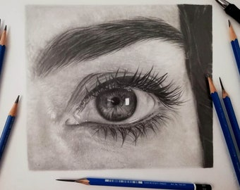 Custom eye painting, Eye art, Eye drawing personalized, Custom eye portrait, Pencil eye,Custom portrait eye painting,Eye painting commission