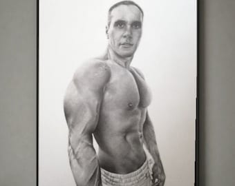 Custom nude pencil drawing,Personalized portrait from photo,Photo to drawing,Man portrait from photo,Custom man drawing,Custom man portrait