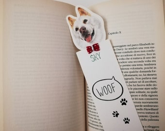 Custom bookmarks dog,Paper bookmark,Gift for readers book,Gift for librarians,Personalized dog bookmark,Bookmark for books,Dog owner gifts