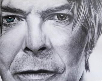 David Bowie poster,David Bowie art print,David Bowie wall art,Celebrity David Bowie wall decor,David Bowie portrait's poster,David Bowie art