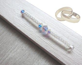 "B - Frame Photo wedding / engagement - ""honor"" - White Pearl / Pearl - SWAROVSKI pearls - custom"