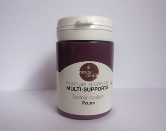 Multi-media paint brand color plum lifestyle