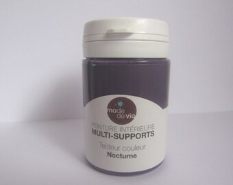 "Multi-media paint brand color ""nocturne"" lifestyle or very dark purple"