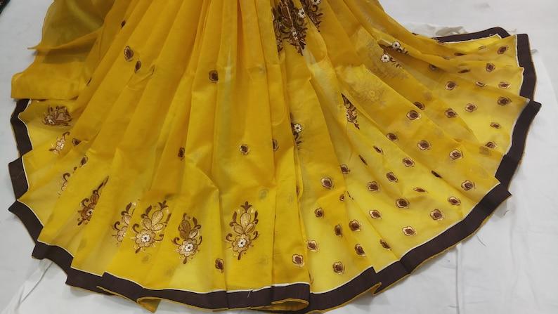 craftvila handmade designer Indian cotton sareesari curtain drape super net daily wear new look 5 yard piece for many uses