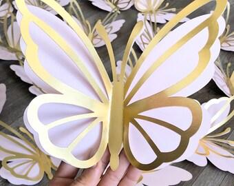 12 LARGE ENGLISH GARDEN 3D BUTTERFLIES WEDDINGS CARDS SCRAPBOOK WALL ART