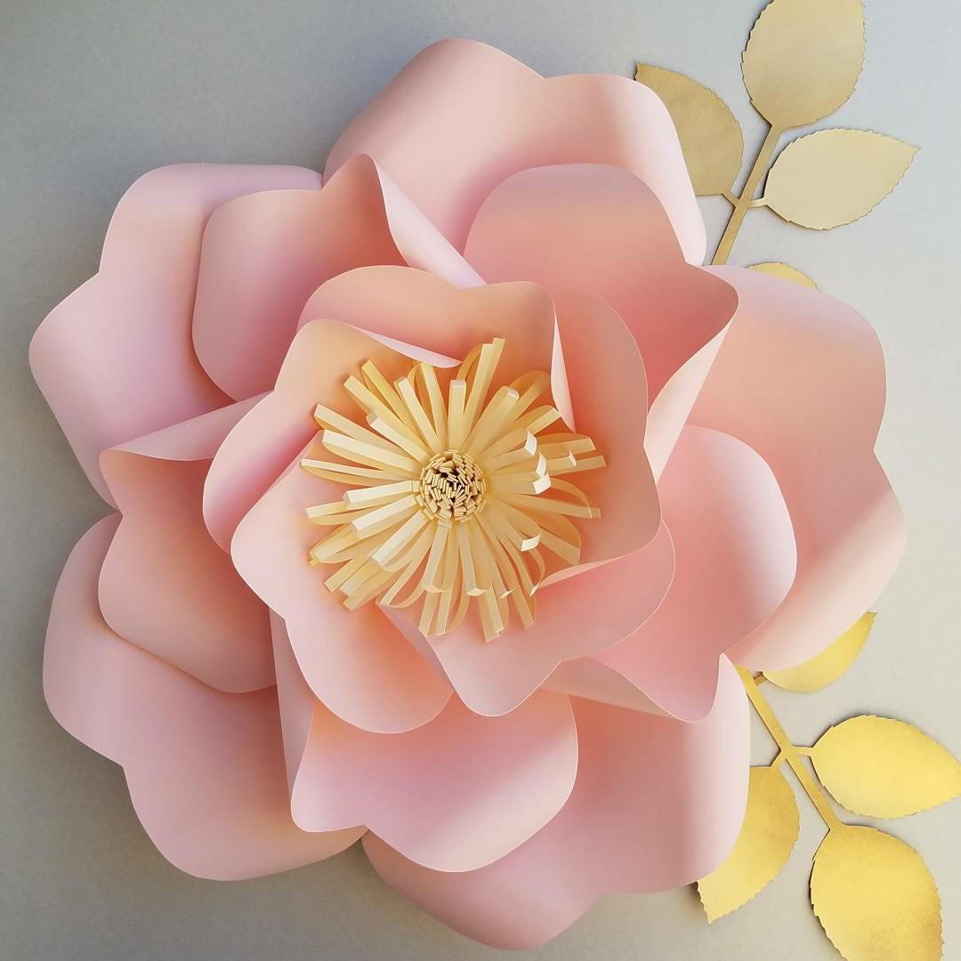 Pdf Paper Flower Template No13 Paper Flower Diy Paper Etsy