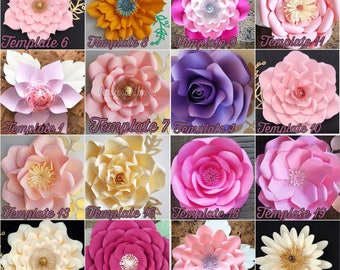 1 hardcopy templates, paper flower templates,paper flower DIY, backdrops, paper flowers backdrop, giants paper flowers