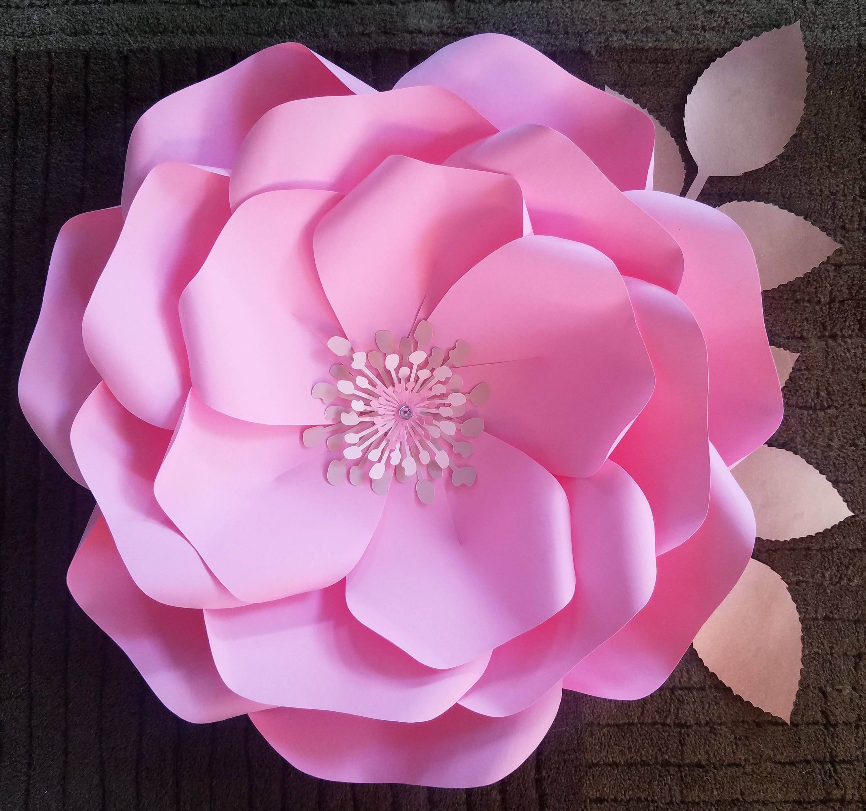 Pdf Paper Flower Template No19 Paper Flower Diy Paper Etsy