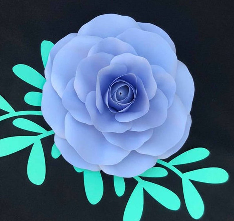 Extra Small Rose Hardcopy Stencil Paper Flower Templates Paper Flower Diy Paper Flowers Backdrop Giants Paper Flowers Rose T