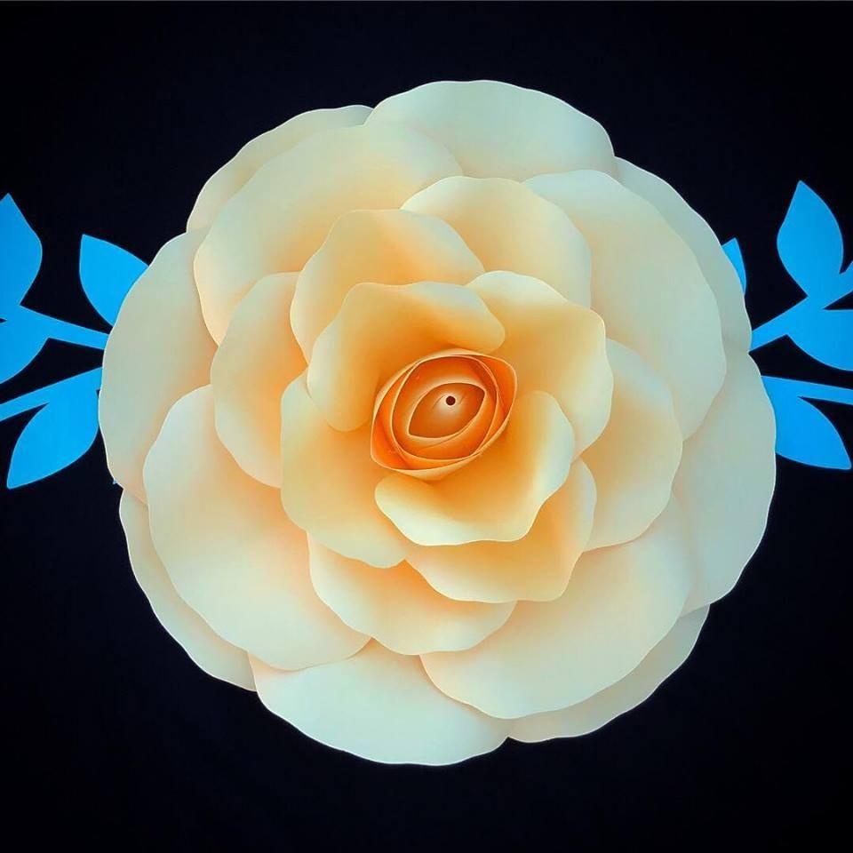 Medium Rose 15 Paper Flower Templatespaper Flower Diy Etsy