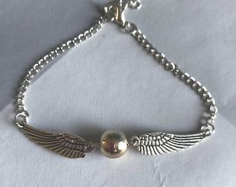 Harry Potter Golden Snitch Bracelet, Harry Potter Jewelry, Harry Potter Jewellery, Golden Snitch Jewellery, Golden Snitch Jewelry, Quidditch