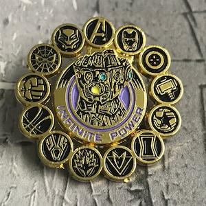 Guardians of the Galaxy émail métal Broche Thanos BADGE Avengers badge
