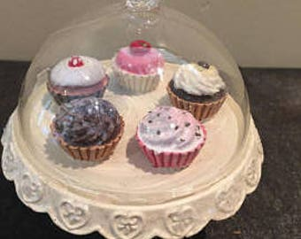 Cake stand with glass Bell