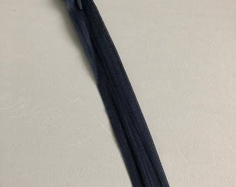 Navy Blue invisible zipper closure
