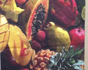 """""""Exotic"""" fruit theme napkin"""