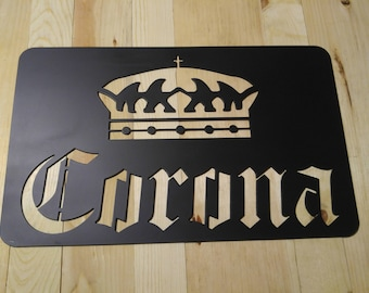 Corona plasma cut metal sign