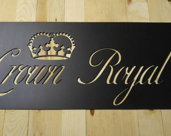 Crown Royal plasma cut metal sign