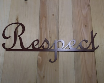 Metal Sign Respect