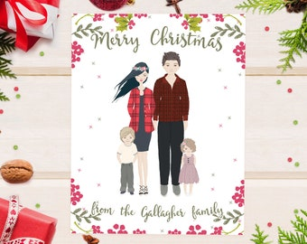 christmas cards etsy