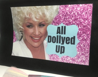 All Dollyed Up Dolly Parton inspired cosmetics bag