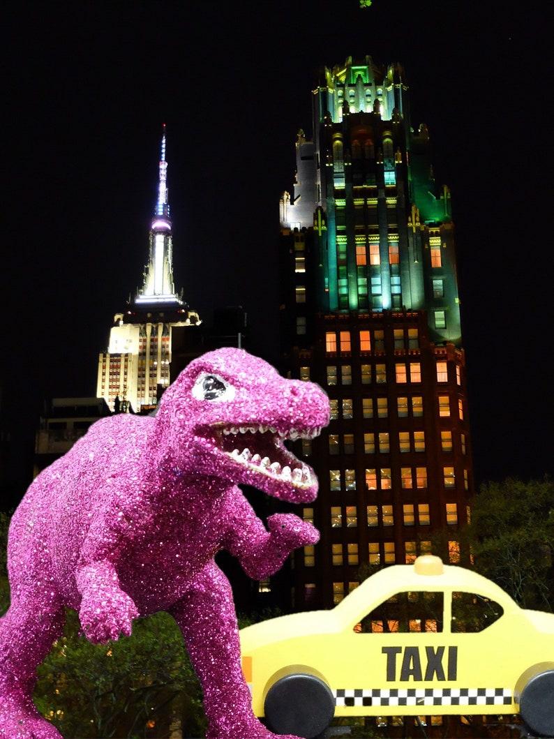 Fuschia Glitter Dinosaur image 0