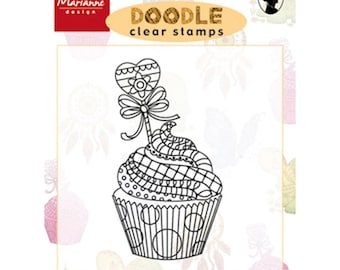 Marianne Design - cupcake - for scrapbooking and cardmaking DOODLE clear stamp