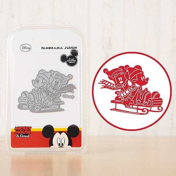 Disney Vintage Panorama Large Die Mickey Minnie Mouse Dies Paper Craft