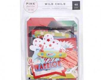 Die cuts - Pink Paislee Wild Child Boy - 40 pcs